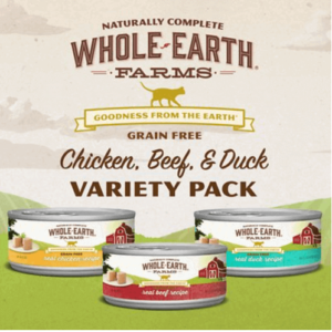 Whole Earth Grain Free Canned Cat Food Variety Pack