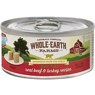 Can of whole earth grain free cat food